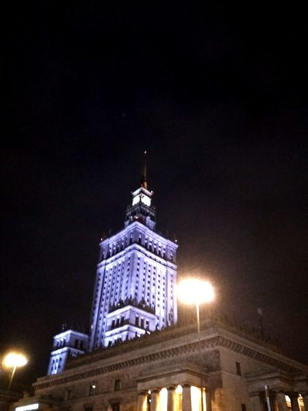 Warsaw Warsaw Poland Night Politics And Government Illuminated Government Dome Building Exterior Built Structure Historic History Tower Tower