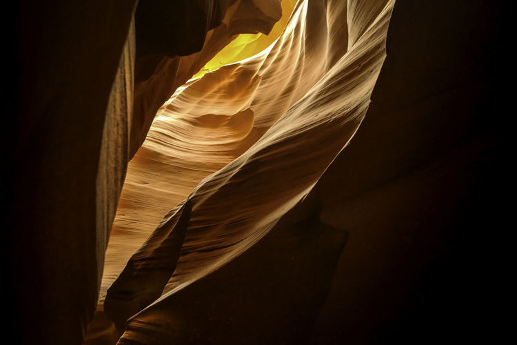 Rock formations at antelope canyon