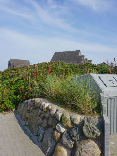 Architecture Built Structure Cloud Cloud - Sky Day Grass Green Color Growth History Nature No People Northsea Outdoors Plant Rock - Object Sky Stone Stone - Object Stone Material Stone Wall Sylt Sylt Strand Sylt, Germany Sylt_collection The Past