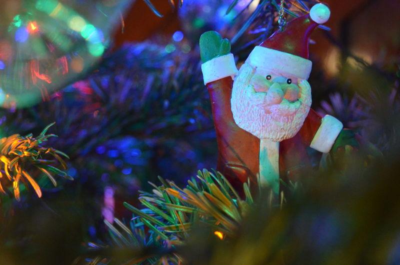 Christmas 2018. Holiday Celebration Decoration Christmas Tree Christmas Decoration Christmas Ornament christmas tree Close-up Festive Festive Season Father Christmas Santa Santa Claus Bauble Warmth