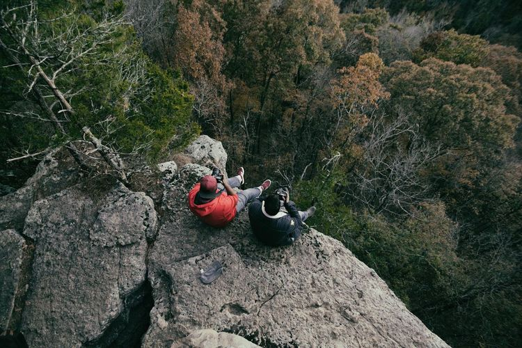 Do you promise to live a different life? Rock - Object Nature High Angle View Outdoors Day Beauty In Nature Adventure Vacations No People Mountain