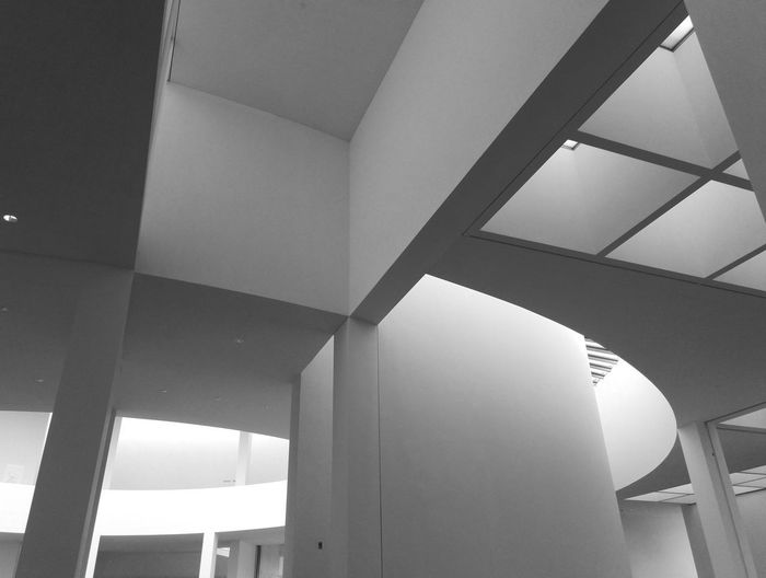 Brandhorst Brandhorst Museum Architecture Low Angle View Built Structure Indoors  No People Ceiling Pattern Building Day Architectural Column Geometric Shape Home Interior Design Architectural Feature Sunlight Window Modern Shape Wall - Building Feature