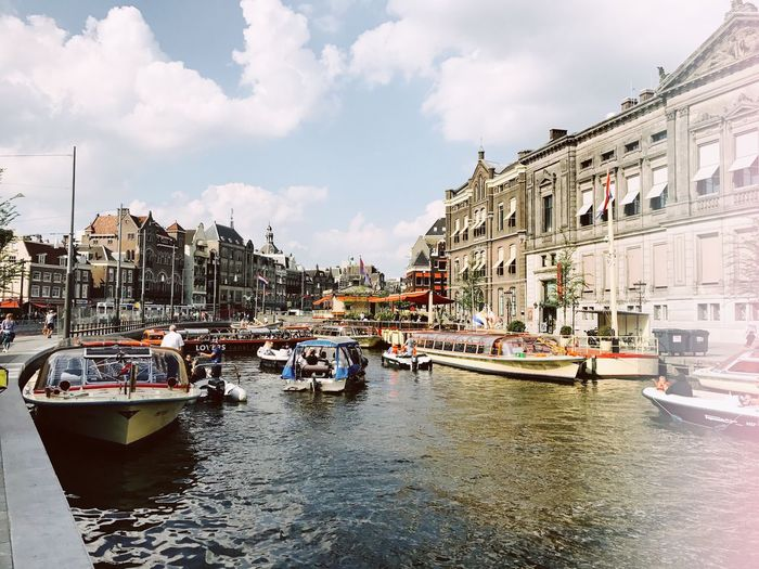 Los Amsterdam Water Nautical Vessel Building Exterior Sky Cloud - Sky Mode Of Transportation Transportation Travel Destinations Day Architecture Canal