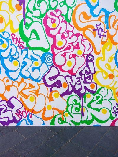 Multi Colored Backgrounds Full Frame Close-up No People Day Stone Retro Bricks Brickstones Modern City Architecture Graffiti Graffiti Art Graffiti Wall Graffiti & Streetart Graffiti Photography Graffiti Collection Springtime Decadence