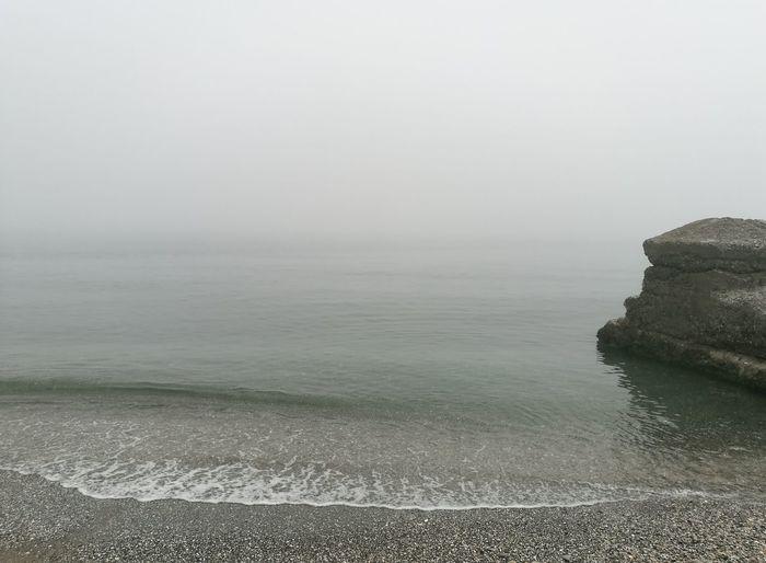 Beach Sea Water Sand Fog Landscape Nature First Eyeem Photo