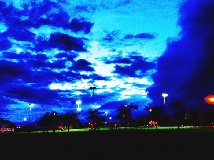 Noite Lights Sky Blue Illuminated No People Nature Tranquility Beauty In Nature