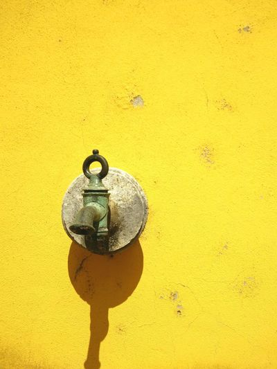 Yellow Nozzle Antique Walls Yellowmagic The World Needs More Yellow Water Taking Photos Portugal Historical
