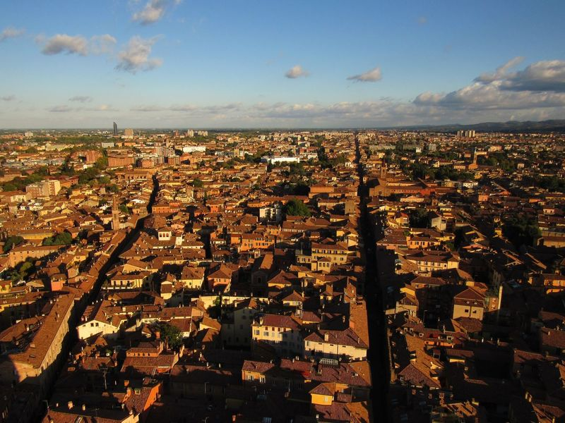 Bologna View City City Location Cityscape Horizon On The Top Outdoors Red City Sky Sun Torre Degli Asinelli Tourism