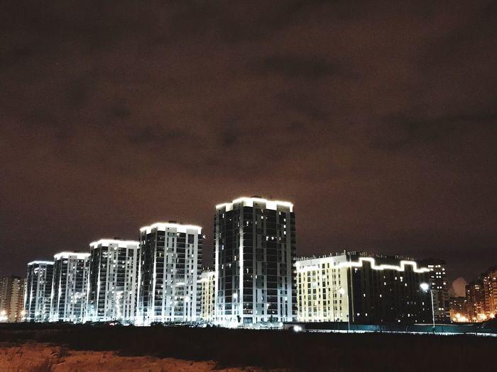 Tyumen72 Architecture Built Structure Building Exterior Skyscraper Illuminated Cityscape City Night EyeEmNewHere