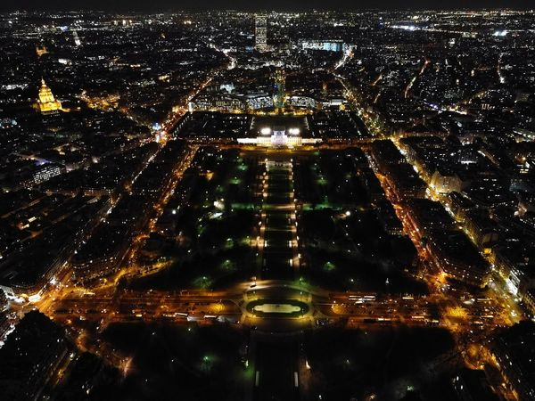 Illuminated Night Outdoors Architecture Paris View From Eiffel Tower France City