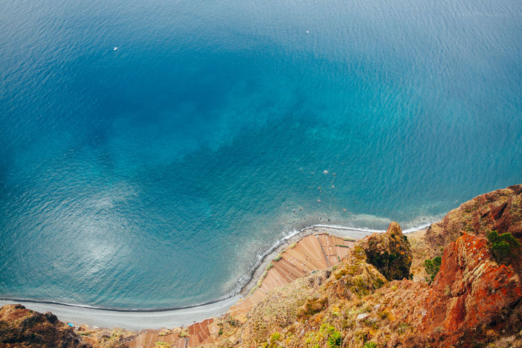 Madeira Portugal Beach Beauty In Nature Cliff Day Horizon Over Water Nature No People Outdoors Scenics Sea Travel Destinations Water Wave