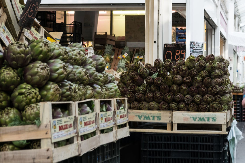 Abundance Artichoke Carciofi Food For Sale Freshness Market Mercato Vegetable Verdura Food Stories