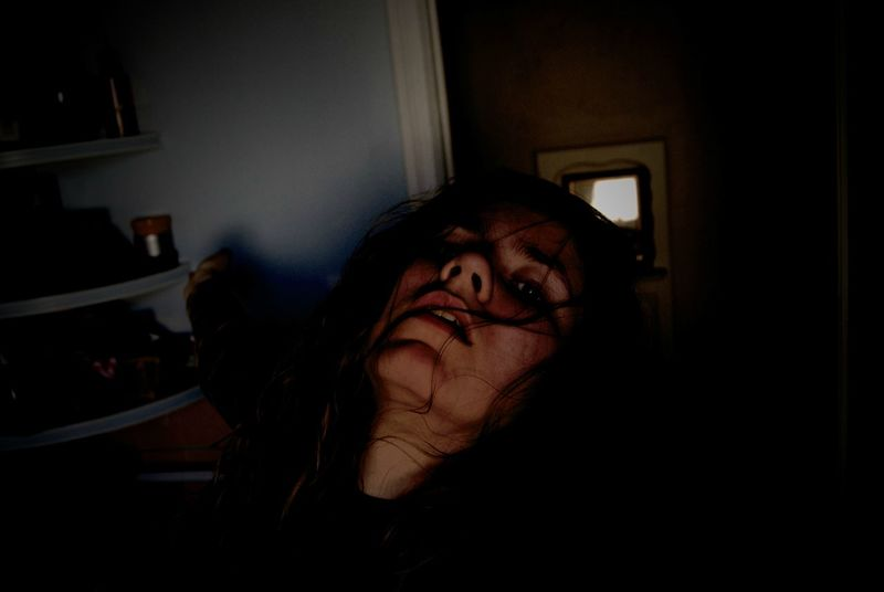 Alive  Alone Dark Dream Dreaming Emotional Photography Emotions Eyes Face Faces Faces Of EyeEm Hair Home Interior Human Body Part Indoors  Insomnia Me Moody Nightmare One Person People Self Portrait Skin Spooky Vision