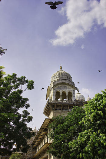 Low angle view of historical building against sky in jaipur, rajasthan