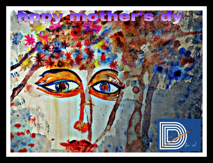 Hi! Hello World Check This Out Eyem Gallery Define Art Mother Mothersday Watercolor Painting