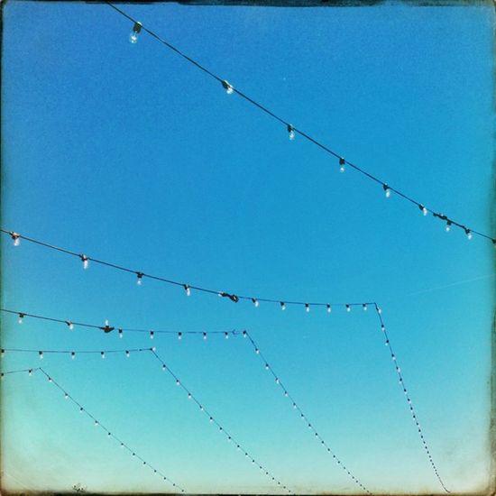 String of Lights Hipstamatic Doris Sussex Cadetbluegel
