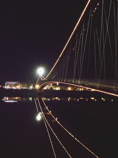 Bridge over troubled water Bridge Bridges Water Reflections Osijek, Croatia