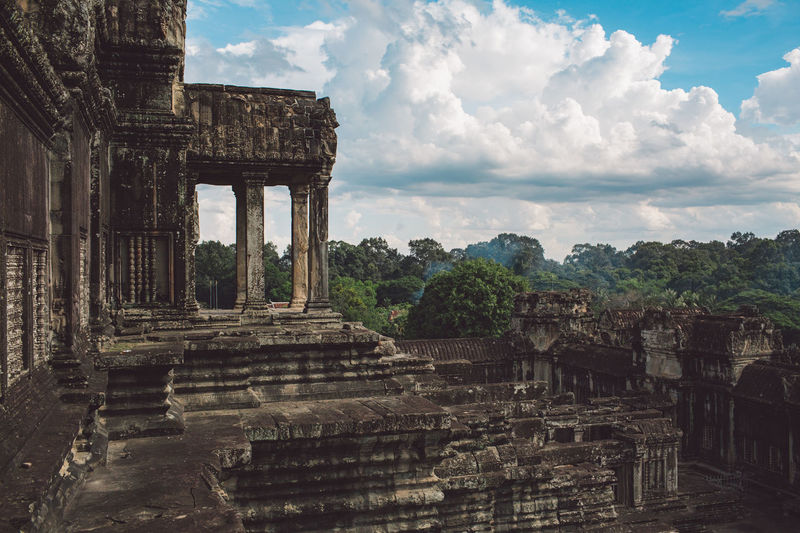 Siem Reap Cambodia Angkor Angkor Wat Angkor Wat, Cambodia Architecture History Built Structure Ancient The Past Sky Old Ruin Ancient Civilization Travel Destinations Day Nature Old No People Tree Cloud - Sky Staircase Travel Damaged Place Of Worship Plant Ruined Archaeology Outdoors Deterioration Architectural Column