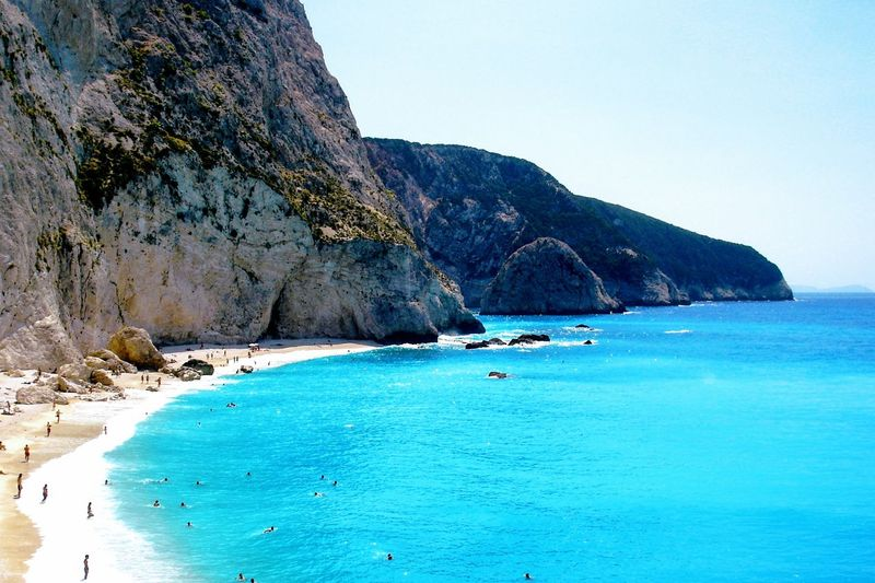 Water Mountain Sea Beach Swimming Blue Summer Sand Nautical Vessel Rock - Object