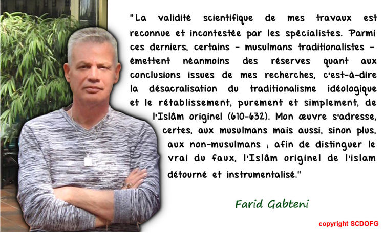 Farid Gabteni Islam Islam Originel Le Soleil Se Lève à L'Occident Musulmans Non-musulmans Qoran Qoraniste Recherche Scientifique