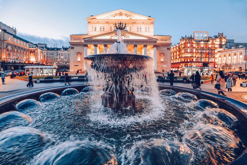 Architecture Built Structure Building Exterior Fountain Water Group Of People Sky City Travel Destinations Large Group Of People Tourism Building Travel Real People Incidental People Nature Crowd Motion Men Spraying