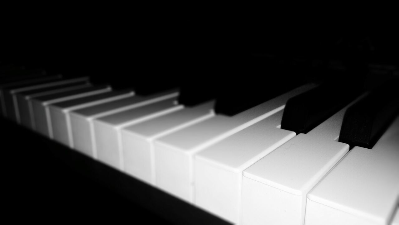 music, piano, piano key, musical instrument, arts culture and entertainment, white color, in a row, black color, close-up, indoors, no people, day