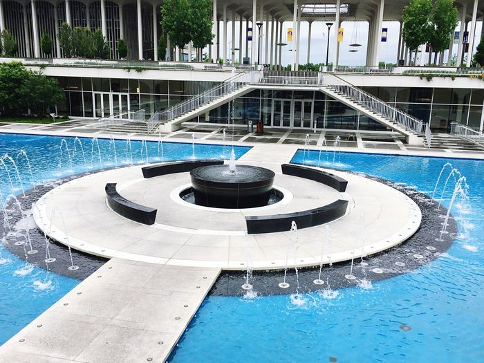 the fountain of educational peace Water Swimming Pool Nature Pool Day Circle Fountain Architecture Geometric Shape Shape Outdoors No People Built Structure Concentric