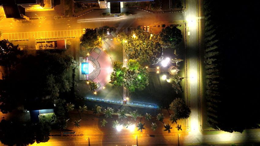 night view from sky Mavicpro Uitmdihatiku Uitmarau Perlis Illuminated Pixelated