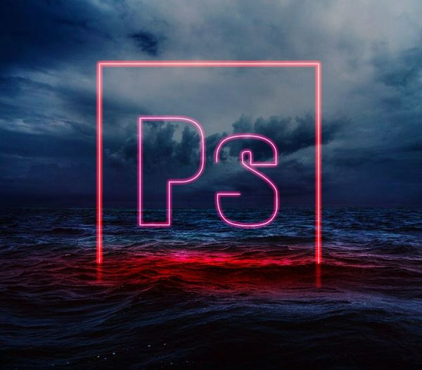 Neon Art Photoshop Sea Red
