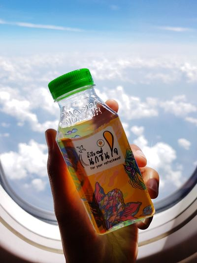 Flight Flight ✈ Flight View Water Drinking Water Drinks Bottle Bottles Collection City Space Sky Cloud - Sky Bottle Cap