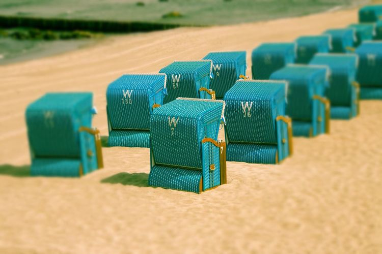 EyeEm Selects Beach Sand In A Row Wood - Material Selective Focus No People Green Color Day Blue Indoors  Nature Close-up Beach Chairs Beach Chair Beach Chillout