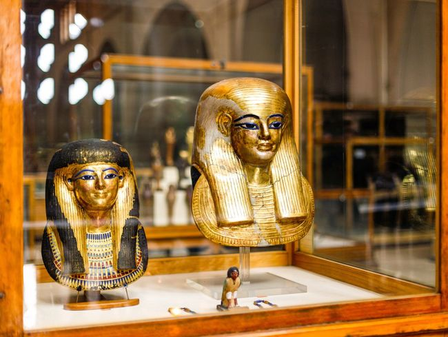 Carousel Close-up Cultures Egypt Egypt Cairo Egyptian Egyptian Museum Egyptian Statue Egyptian-Faces Egyptology Focus On Foreground Golden Golden Mask Human Representation Illuminated Mask Ornate Selective Focus Show Window Tresure