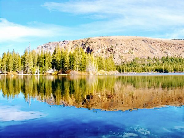 Lake Mary Mammoth Lakes, CA Eastern Sierras Water Sky Beauty In Nature Lake Reflection Scenics - Nature Waterfront Tranquil Scene Reflection Lake Nature