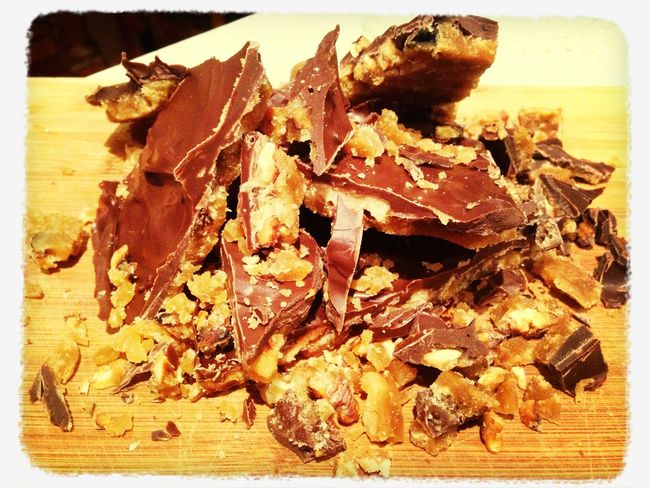 Chocolate And Caramel Walnut Brittle