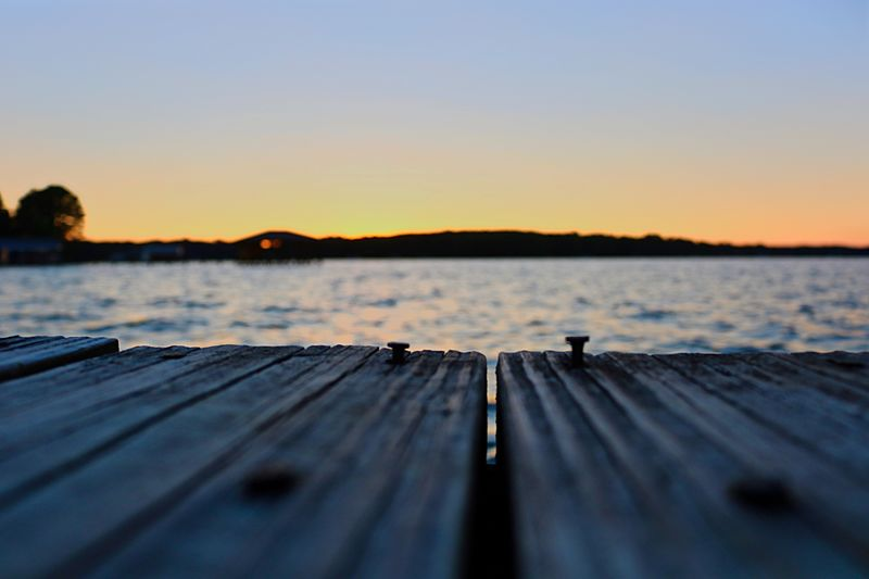 Water Sunset Outdoors Pier Wood - Material Nature Tranquility Lake Sky Beauty In Nature Close-up Tranquil Scene Been There. Perspectives On Nature