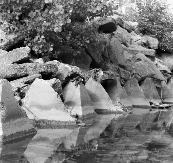 Black & White Photography Mirror Reflection Close-up Concretedesign Man-made Nature Rock - Object Water
