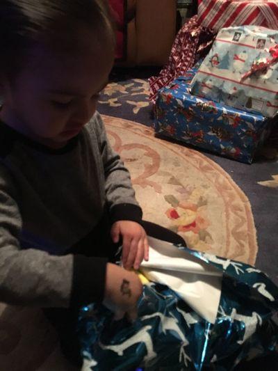 Grandson Jaxx's 2nd Christmas