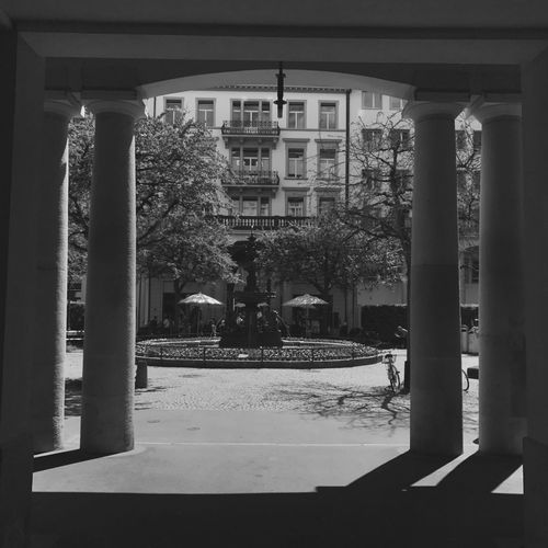 Built Structure Architecture Day City Shadows & Lights Fountain Architectural Column EyeEmNewHere Blackandwhite