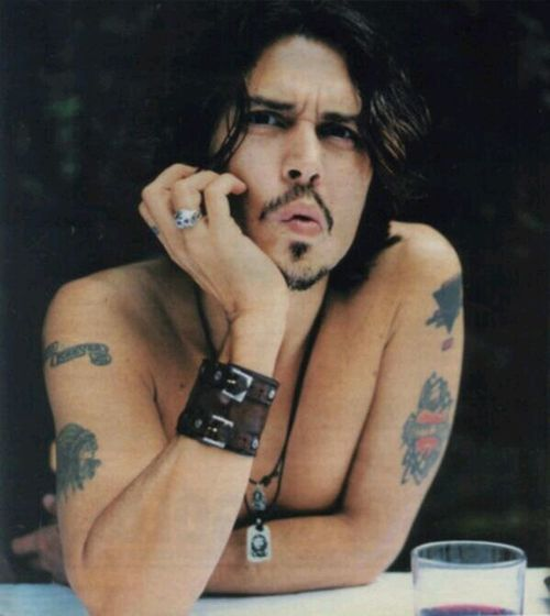Johnny Depp Tattos Beauty Love