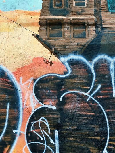 Graffiti Full Frame Backgrounds Day No People Art And Craft Creativity Graffiti Communication Nature Built Structure Wall - Building Feature Architecture Multi Colored Heart Shape Western Script Pattern Outdoors Textured  Text Street Art