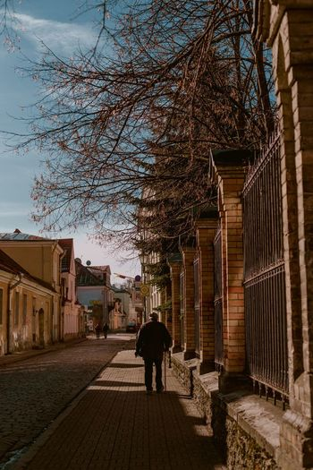 Old town in Tallinn, Estonia Street Photography Real People Elderly Man Old Man Walking Stick Back View Tallinn Old Town Architecture Built Structure Walking Building Exterior Real People Nature Rear View One Person Street Men The Way Forward Streetwise Photography