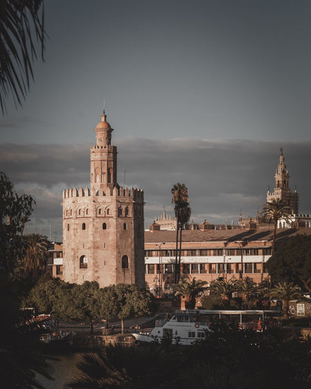 River Waterfront Andalucía Sevilla SPAIN Tower Architecture Skyline Tall Downtown Historic