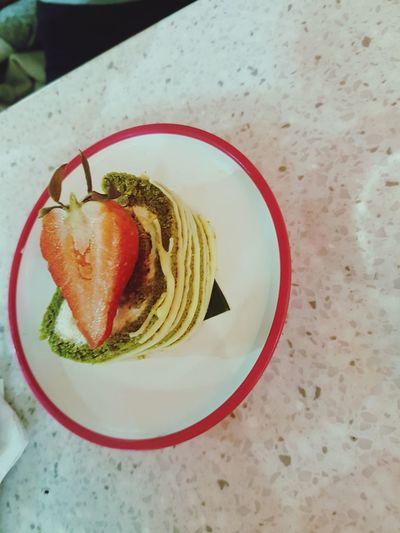 Food And Drink Food No People Indoors  Close-up Dessert Pudding Matcha Green Tea Yo Sushi Yo! Sushi Strawberry
