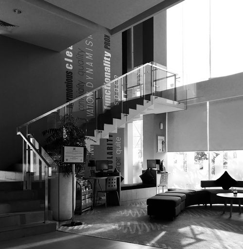 Hotel Interior Interior Shot On IPhone Architecture Built Structure Building Indoors  Railing No People Staircase