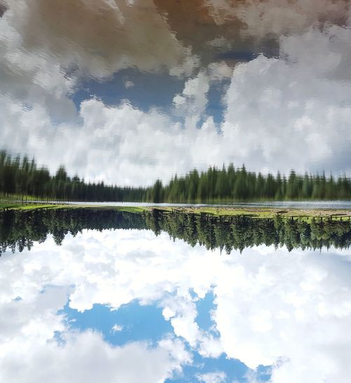 Hawley Lake, Arizona Hawleylake Arizona Lake Reflection Water Cloud - Sky Forest Outdoors Nature AriZona♡ I Love Arizona! Beautiful Outdoor Photography Symmetry Sky No People Tree Scenics Beauty In Nature Mountain Enjoying Life