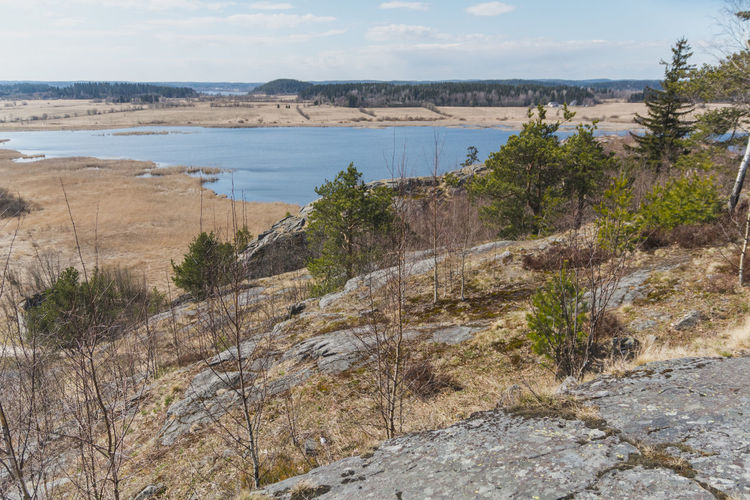 View of the northern expanse from the hill Forest Karelia Lake Landscape Mountain Mountains Nature River Rocks Russia Russian Nature Stones Water