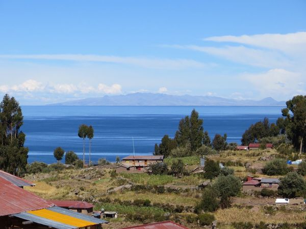 Sky Nature Scenics Day Beauty In Nature Mountain Landscape Sea No People Outdoors Tranquil Scene Tree Cloud - Sky Blue Tranquility Water Architecture Peru Lake Titicaca Amantani Island Amantaní Travel Destinations
