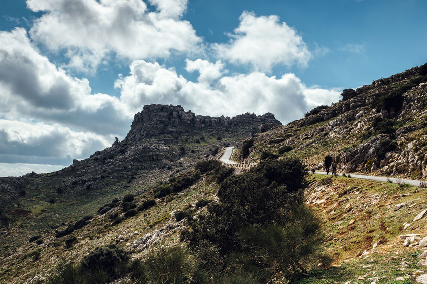Torcal de Antequera Connected With Nature Grass Highway Landscape Mountain Natural Reserve Outdoors Road Rock Rocky Mountains Scenics Sierra Del Torcal Sky The Great Outdoors - 2016 EyeEm Awards The Great Outdoors With Adobe Torcal De Antequera Tranquil Scene Tranquility Walking Around