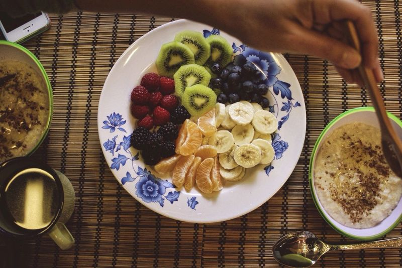 Breakfast Sharing  Food Fruit Fruits Coffee Porridge Healthy Healthy Food Healthy Eating Health Healthylife Healthy Lifestyle Healthyfood On A Health Kick Healthyliving