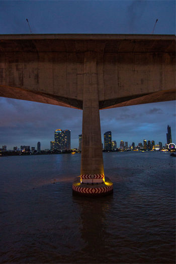 Architectural Column Architecture Bridge - Man Made Structure Building Exterior Built Structure City Cityscape Connection Day Nature No People Outdoors River Sky Transportation Travel Destinations Underneath Water Waterfront